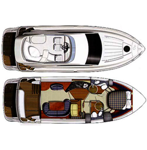 Fairline Phantom 40 - Charter Yacht Layout