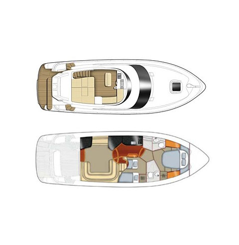 Sealine F42/5 - Charter Yacht Layout
