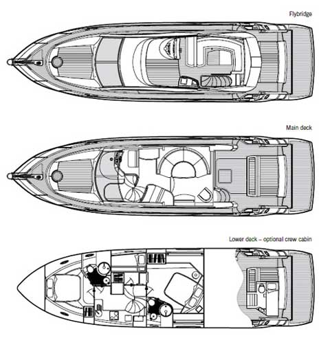 Sunseeker Manhattan 50 - Layout