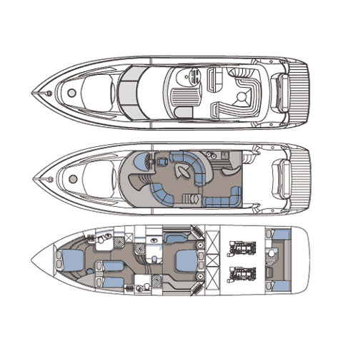 Sunseeker Manhattan 64 - Layout