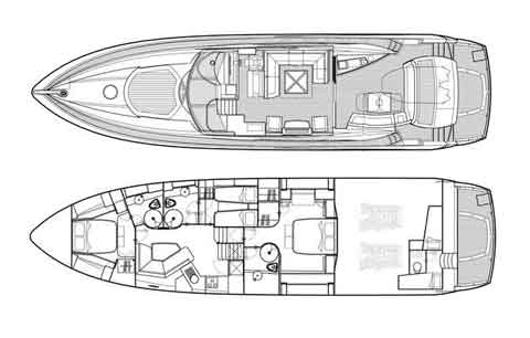 Sunseeker Predator 72 - Layout