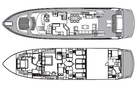 Sunseeker Yacht 88 - Layout